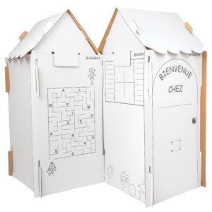 Cabane modulable Mabarac en carton avec deux toits